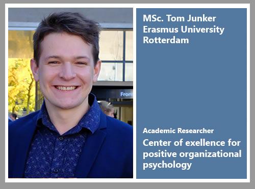 Tom Junker Psychology Work Engagement Positive Organizational Psychology